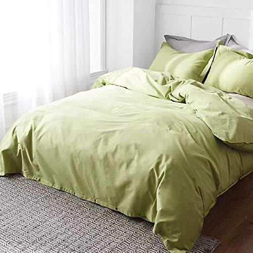 CHINCI GUO Vier Stück bettwäsche schlicht reduzierte dreiteilige Baumwolle im Sommer Vier bettwäsche - Decke 431 Grüne - Echo Design-bettwäsche-bettdecken