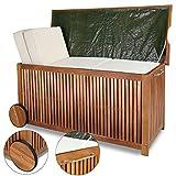 morocca Auflagenbox Holztruhe Gartenbox Gartentruhe Kissenbox Truhe Holz 117cm Holzbox