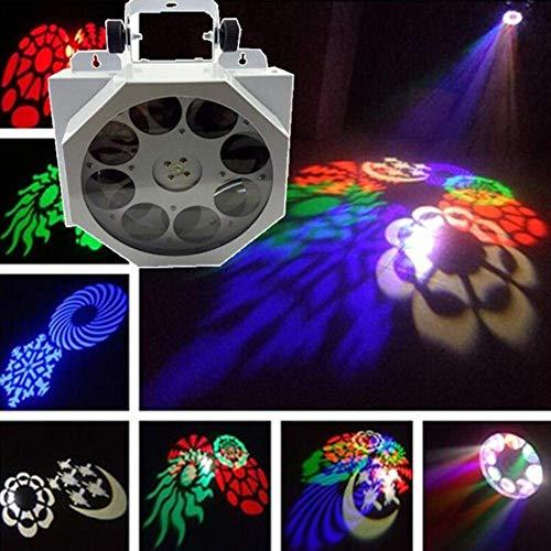 Bühnenlicht LED Acht Auge Muster Scannen Lampe Projektionslampe KTV Zimmer Effekt Lichter Hochzeit Licht