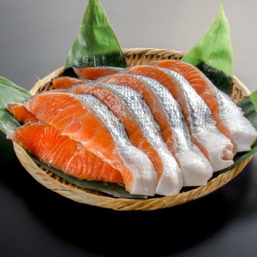 【小針水産】 銀鮭(サケ) 切り身 大切り(1パック10切入り)