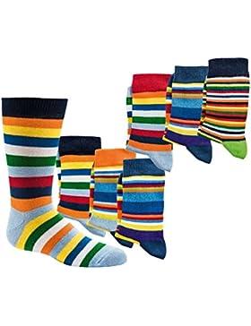Kinder Socken handgekettelt Spitze ohne Naht 6 Paar aus besonders weicher Baumwolle bunter Mix Gr. 19-42