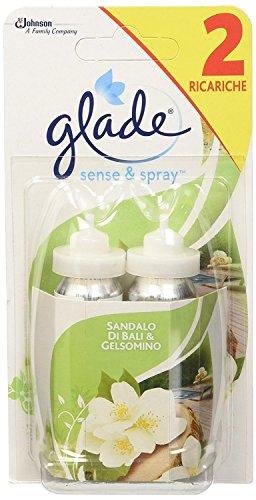 Glade Sense & Spray Doppia Ricarica - Fragranza Sandalo di Bali e Gelsomino, 36 ml - [confezione da 2]