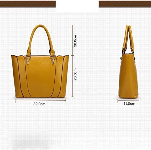 Donna Nuovo Stile Vestito Di Due Pezzi Originalità Colore Solido Moda Spalla Singola Yellow