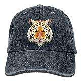 Osmykqe Geometric Africa Tiger Denim Hat Adjustable Male Mini Baseball cap Y020020