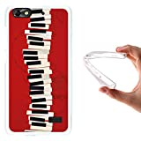 WoowCase Huawei G Play Mini - Huawei Honor 4C Hülle, Handyhülle Silikon für [ Huawei G Play Mini - Huawei Honor 4C ] Piano Tastatur Handytasche Handy Cover Case Schutzhülle Flexible TPU - Transparent