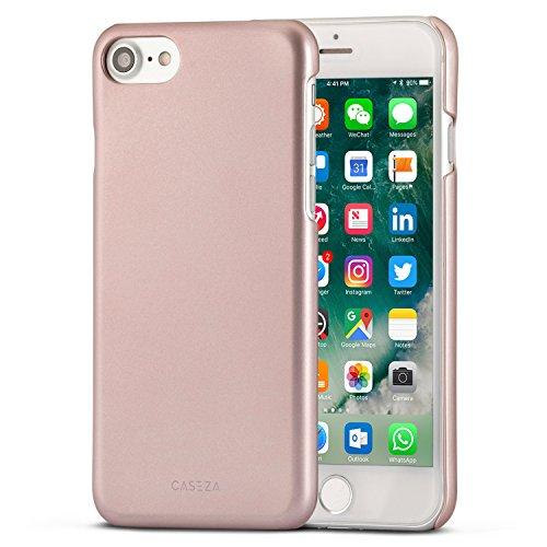 Cover-CASEZA-iPhone-7-Rio-oro-rosa-Ultra-sottile-custodia-posteriore-con-finitura-in-gomma-opaca-Eccellente-protettiva-gommata-rigida-Aspetto-e-sensazione-di-qualit-per-iPhone-7-originale