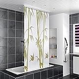 HOMELUX Duschrollo Duschvorhang Bad Deckenbefestigung Halbkassette Seitenzug links oder rechts montierbar 100 x 200 cm BAMBUS