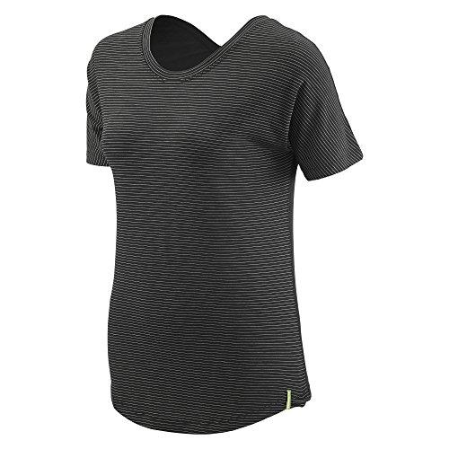 Kathmandu Adapt Damen T-Shirt Black Pinstripe