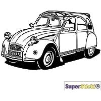 SUPERSTICKI Route 66 Oldtimer altes Auto Wandtattoo USA ca 60 x 60 cmHobby Deko Dekoration A1121 aus Hochleistungsfolie Aufkleber Autoaufkleber Tuningaufkleber Hochleistungsfolie f/ür alle g