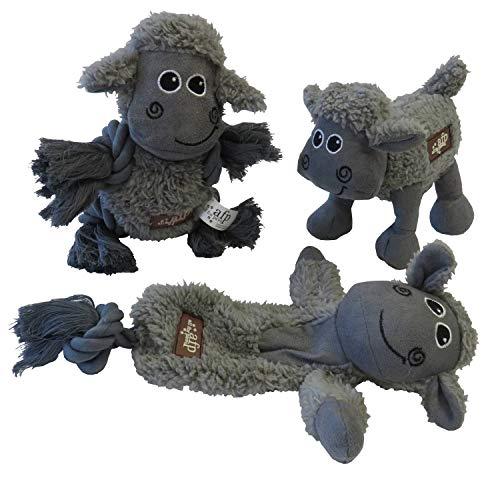 Große Schafherde Hundespielzeug aus Lammfellimitat mit…   04260536531072