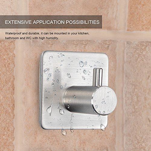 Moliker ganchos adhesivos fuertes ganchos de acero for Ganchos adhesivos para pared