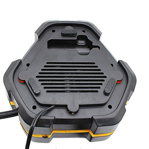 Digitaler Luftkompressor 12V 10A Digitaler Bildschirm Auto Luftpumpe Schnell Air Inflator mit Manometer 150 PSI für Motorrad Fahrrad Basketball - 3