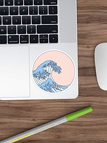 Aesthetic Wave Sticker Window Vinyl Sticker For Cars, Trucks, Windows,  Walls, Laptops (Longest Side 3