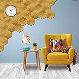 LX- Stickers Creative 3D Selbstklebende DIY-Marmor-Effekt Bodenaufkleber Fliesen Wand Dekor Hexagon Skip Proof Küche Bad Decals 4,53 X 7.87 5 Pcs/Set,B
