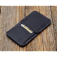 Grigio custodia a guscio per LG V30 in cuoio con 1 porta carta di credito e banconote verticale portacellulare cover case caso