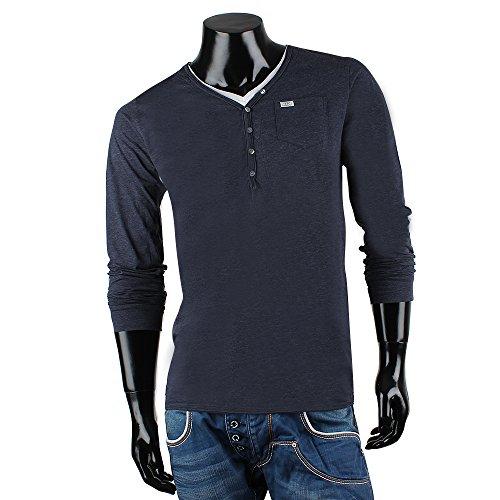 REDBRIDGE BY CIPO & BAXX Herren Langarm Shirt Navyblau