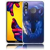 Huawei P20 Lite Wolf Lobo Funda de Silicona Protectora Funda de Silicona Funda de Silicona...