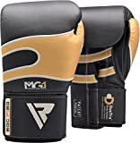RDX Bazooka Boxing Gloves Muay Thai Training Leather Sparring Punching Bag Mitts kickboxing Fighting