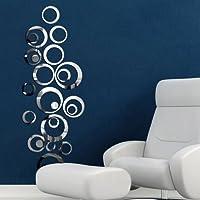 Ltopow- 3D Espejos Pegatinas de Pared, Adhesivos de Pared, Espejos Calcomanías Decorativas de Pared,Vinilo Material, Movible, Extraíble, Decoración Hogareña