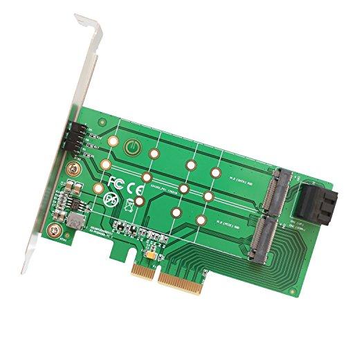 IOCrest SI-PEX40124 2 Port M.2 B Key und 1 Port M.2 M Key PCI-Express x4 Adapterkarte - Grün (Motherboard-m2-slot)