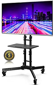 """Support télé sur pieds avec roulettes pour 32""""-65"""" LED LCD Plasma écran plat TS122"""