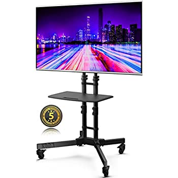 onkron support t l sur pied roulettes support tv mobile pour lcd oled plasma de 32 65. Black Bedroom Furniture Sets. Home Design Ideas