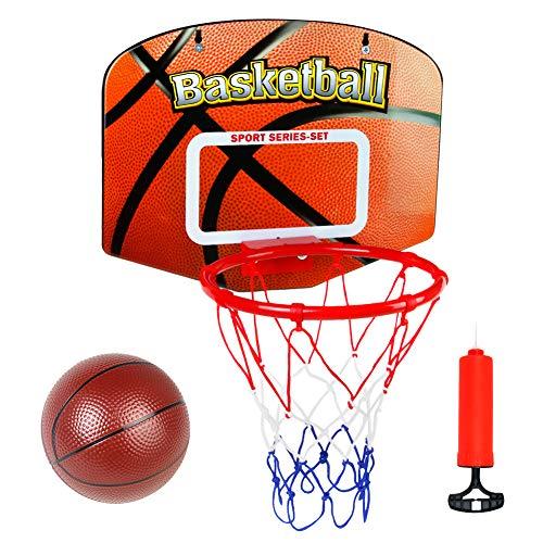 Canasta Baloncesto Tablero Infantil Baloncesto Juego Al Aire Libre y Interior Oficina Habitación Jardín Aro Baloncesto para Niños y Adultos (con Inflador y Pelota)