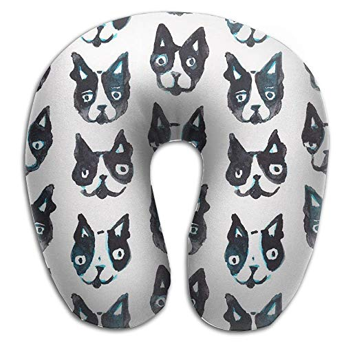 Bgejkos Multifunctional Neck Pillow Puppy Dogs U-Shaped Soft Pillows Portable 10