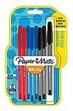 PaperMate InkJoy 100 CAP, bolígrafo con capuchón, punta fina de 0,7mm y colores estándares surtidos, paquete de 8 (1956757)