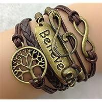 GYJUN Armbänder Wickelarmbänder / Lederarmbänder Aleación / Leder Liebe / Unendlichkeit / Baum des Lebens Inspirationen / EinstellbarAlltag /