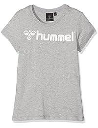 Hummel Classic Bee T-shirt à manches courtes pour femme fille Gris Grey Melange/White