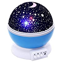 Blue Sky Star Master LED Cosmos Laser Projector Lamp Night Light For Kids Room Decor TLB-P3
