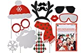 Partyfoto Selfiefoto Accessoires für Weihnachten 12 teilig