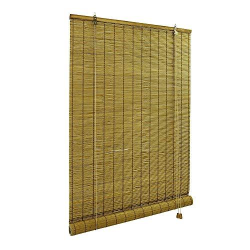 Victoria M. Persiana de bambú para Interiores, 80 x 160 cm, Color marrón