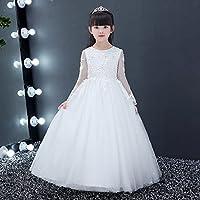 RENQINGLIN Prinzessin Kleid Mädchen Kleid Abendkleid Kinder Flauschige Garne Piano Kostüm Kleine Flower Girl Dress 110 Cm-160 Cm, B 110 Cm,