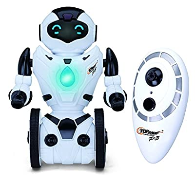Top Race® Remote Control Robot, Smart Self Balancing Robot, 5 Operating Modes, Dancing, Boxing, Driving, Loading, Gesture. 2.4Ghz Transmitter