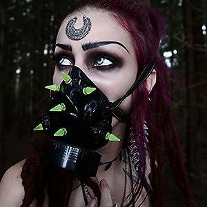 MB-Müller 87324-006-000 - Máscara de gas con pinchos UV, unisex, color negro