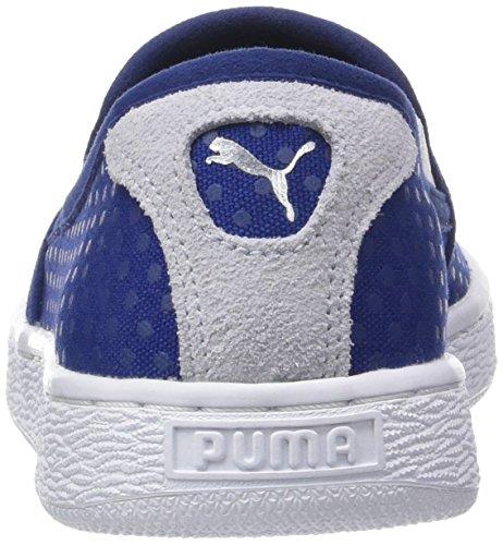 Puma Basket Slip On Denim Wn's, Scarpe da Ginnastica Basse Donna Blu (Twilight Blue-halogen Blue 01)
