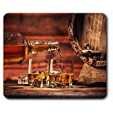 Destination Vinyl Ltd Confortevole Mat Mouse - Whisky Occhiali barile di Whisky 23,5 x 19,6 cm (9,3 x 7,7 Pollici) per Il calcolatore & Computer Portatile, Ufficio, Regalo, Base Antiscivolo - RM15687