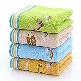 TDPYT 10 Stücke/Kinder Handtuch Reine Baumwolle Cartoon Bestickte Kindertuch Kindertuch 50 * 26 cm
