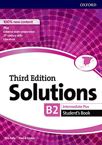 Solutions intermediate plus student's book 3rd edition - (solutions third edition)