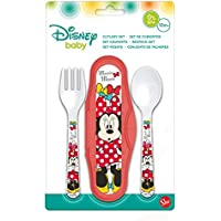 ESTUCHE CON 2 CUBIERTOS MINNIE COLOR BOWS