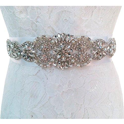 TRLYC avorio da sposa applique cristallo applique per matrimonio sash/Trim champagne ribbon
