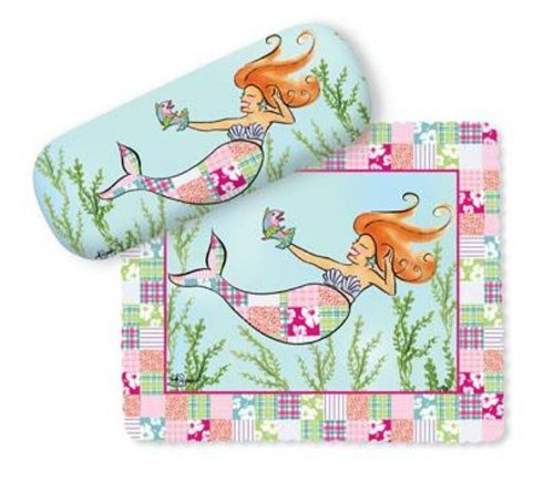 coastal-nautical-fun-redhead-mermaid-glasses-case-and-lens-cloth-by-cape-shore