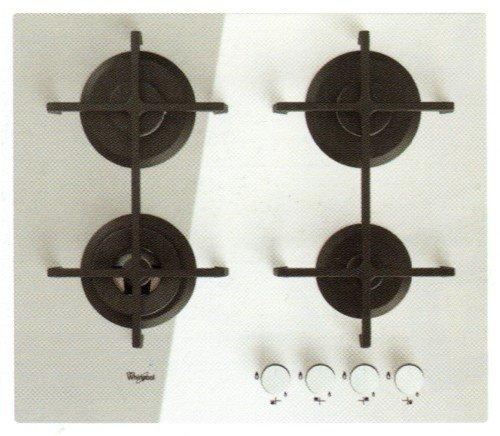 Whirlpool Goa 6423/WH Plaque - Plaque (intégré, gaz, verre, rotatif, partie supérieure avant, 230 V) Blanc