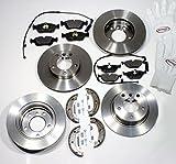 Autoparts-Online Set 60007310 Bremsscheiben/Bremsen + Bremsbeläge Warnkabel Handbremsbacken Zubehör für Vorne + Hinten