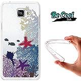 BeCool® Fun - Coque Etui Housse en GEL Flex Silicone TPU Samsung Galaxy A5 2016 , protège et s'adapte a la perfection a ton Smartphone et avec notre design exclusif.Coraux et poissons