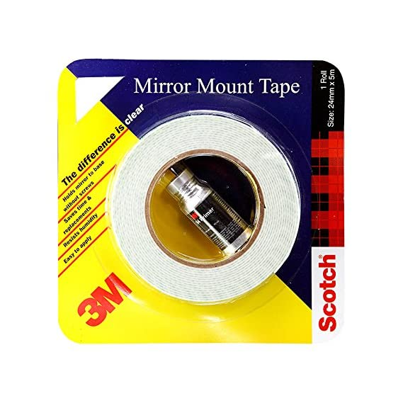 3M Mirror Mounting Tape, 12 mm x 5 m (1 Roll) and adhesion 94 primer 10ml