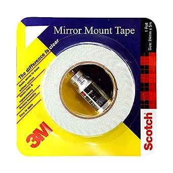 3M IA120100143 Mirror Mounting Tape, 24 mm x 2.5 m (1 Roll)