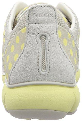 Geox D Nebula C, Sneakers Basses femme Blanc (Blanc C1Q2M)